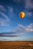 Ballon taking off in the early morning near Marrakech, Morocco.