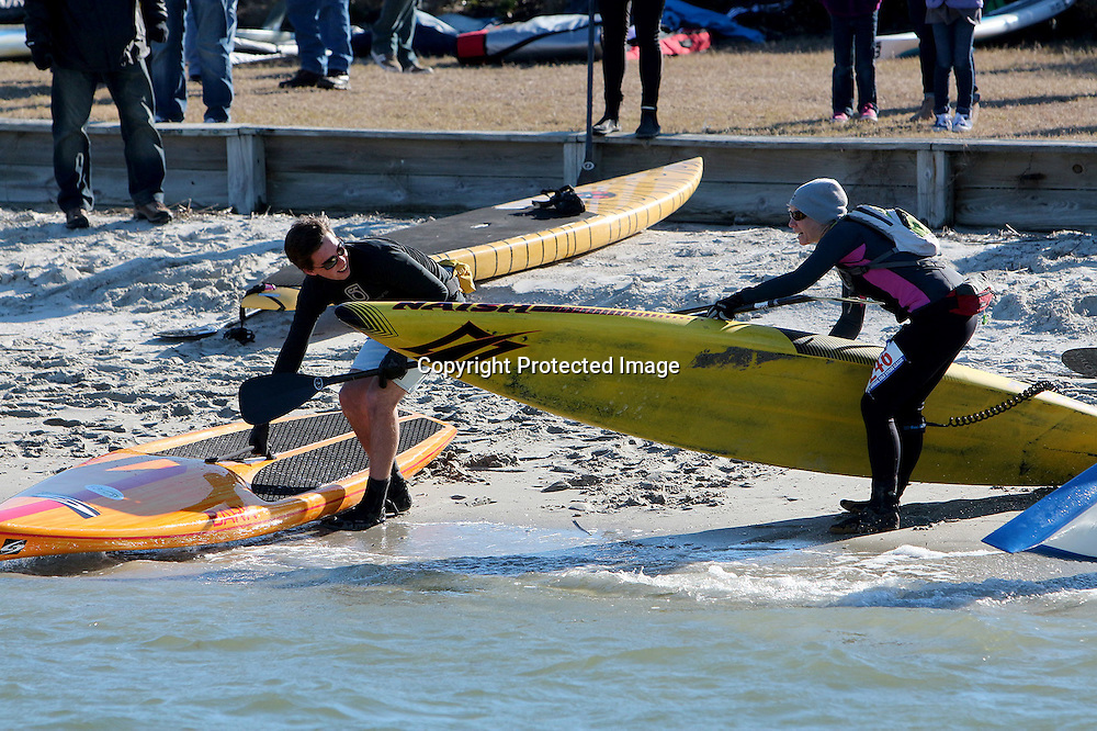 Paddleboarders from across the country competed in the 2014 Cold Stroke Classic Saturday January 18, 2014 in Wrightsville Beach, N.C. (Jason A. Frizzelle)
