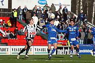 21.04.2007, Hietalahti, Vaasa, Finland..Veikkausliiga 2007 - Finnish League 2007.Vaasan Palloseura - Tampere United.Jyri Hietaharju (VPS) v Juska Savolainen (TamU).©Juha Tamminen.....ARK:k