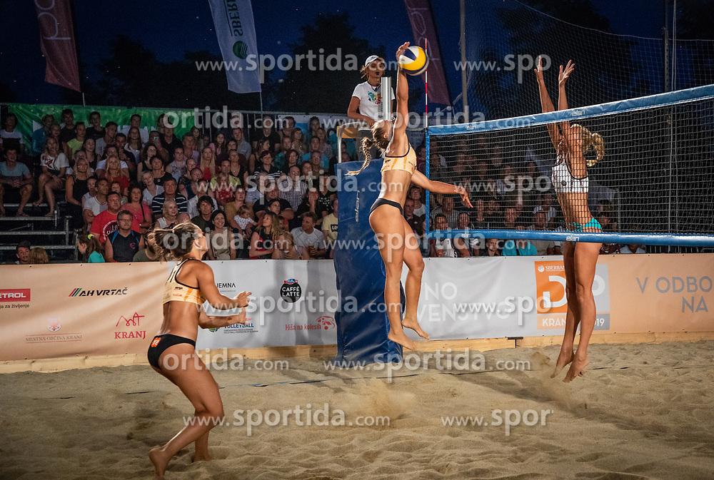 Tjasa Jancar / Tjasa Kotnik and Tajda Lovsin / Nina Lovsin during the match for 1st. place on Beach volley National Championship of Slovenia  on July 20, 2019 in Kranj, Slovenia. Photo by Urban Meglic / Sportida