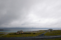 Stormy weather on Inis Oirr Island the Aran Islands County Galway Ireland