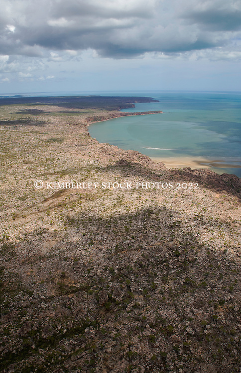 The coast near the King George River on the east Kimberley coast.