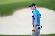 Jordan Spieth looks on during the first round of the AT&T Byron Nelson in Las Colinas, Texas on May 28, 2015. (Cooper Neill for The New York Times)