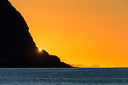 Sunset at the west coast of Norway   Solnedgang ved Kvalsvik i Herøy.