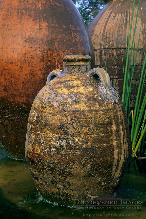 Fountain, Kuleto Estate Winery, above Highway 128, Napa County, California