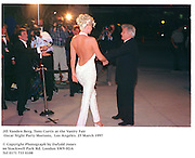Jill Vanden Berg, Tony Curtis & L.A. cop  at the Vanity Fair Oscar Night Party Mortons,  Los Angeles. 25 March 1997<br />