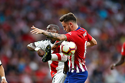 August 25, 2018 - Saul of Atletico de Madrid and Kakuta of Rayo Vallecano during the spanish league, La Liga, football match between Atletico de Madrid and Rayo Vallecano on August 25, 2018 at Wanda Metropolitano stadium in Madrid, Spain. (Credit Image: © AFP7 via ZUMA Wire)