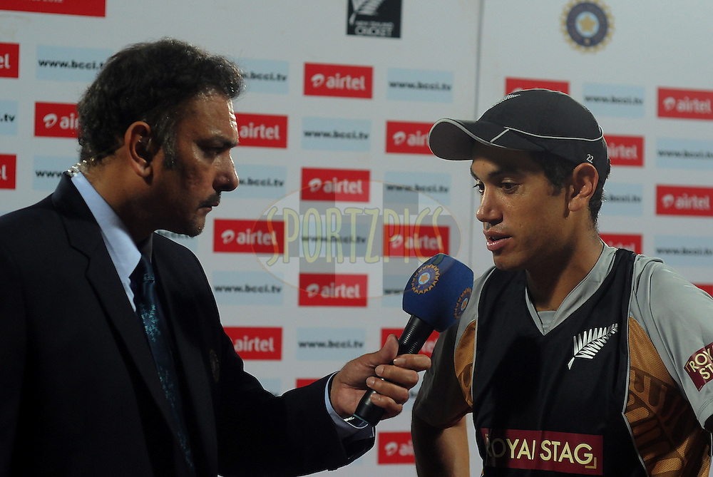 Ross Taylor captain of New Zealand during the presentation after the second International T20 match between India and New Zealand held at the M. A. Chidambaram Stadium in Chennai on the 11th September 2012..Photo by Pal Pillai/BCCI/SPORTZPICS