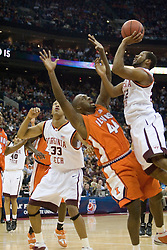 Virginia Tech Hokies guard Jamon Gordon (22) shoots over Illinois Fighting Illini forward Marcus Arnold (44).  The #5 seed Virginia Tech Hokies defeated the #12 seed Illinois Illini 54-52 in the first round of the Men's NCAA Tournament in Columbus, OH on March 16, 2007.