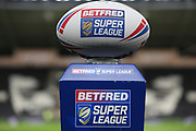 The Match Ball for the Betfred Super League match between Hull FC and Castleford Tigers at Kingston Communications Stadium, Hull, United Kingdom on 7 February 2019.
