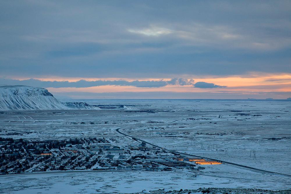 Hveragerði, Iceland, December 24, 2013.