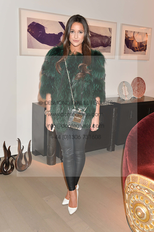 ROXIE NAFOUSI at the PAD London 2014 VIP evening held in the PAD Pavilion, Berkeley Square, London on 14th October 2014.