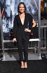 October 17, 2017 - Los Angeles, California, USA - 10/16/17.Sonya Balmores at the world premiere of ''Geostorm''..(Hollywood, CA) (Credit Image: © Starmax/Newscom via ZUMA Press)