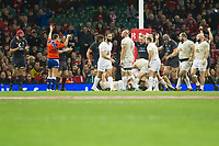 Rugby Union - 2017 Under Armour Series (Autumn Internationals) - Wales vs. Georgia<br /> <br /> Wales celebrate as referee Mathieu Raynal of France    awards them a penalty in the final seconds of the game , at The Principality Stadium (Millennium Stadium), Cardiff.<br /> <br /> COLORSPORT/WINSTON BYNORTH
