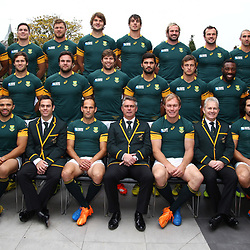 LONDON, ENGLAND - OCTOBER 23: South African national rugby team during the South African national rugby team Official team photograph at Radisson Blu Edwardian, Guildford on October 23, 2015, England. (Photo by Steve Haag/Gallo Images)