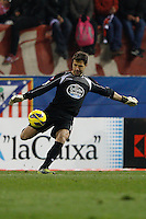 09.12.2012 SPAIN -  La Liga 12/13 Matchday 15th  match played between Atletico de Madrid vs R.C. Deportivo de la Courna (6-0) at Vicente Calderon stadium. The picture show  Daniel?Aranzubia (Player of R.C. Deportivo)
