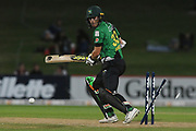 Central Stags George Worker is bowled during the Burger King Super Smash T20 cricket match between the Central Stags and the Northern Knights, McLean Park, Napier, Friday, January 25, 2019. Copyright photo: Kerry Marshall / www.photosport.nz