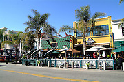 Killarney Pub & Grill and Baja Sharkeez Restaurants on Main Street in Huntington Beach California