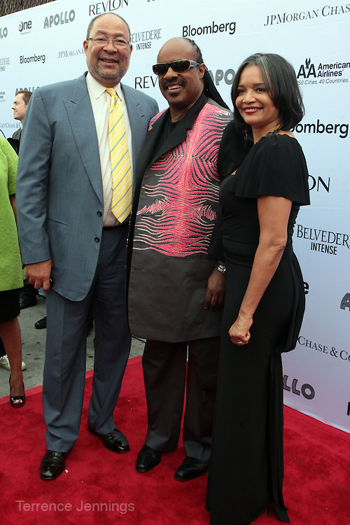 13 June 2011- Harlem, NY-  l to r: Richard Parsons, Stevie Wonder and Jonelle Procope at the 2011 Annual Apollo Spring Gala honoring Stevie Wonder held at the Apollo Theater on June 13, 2011 in Harlem, New York City. Photo Credit: Terrence Jennings