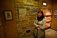 Roma  24 Aprile 2012.Il presidente della Regione Lazio, Renata Polverini, ha inaugurato la mostra 'Impressioni di guerra' al Museo Storico della Liberazione di via Tasso