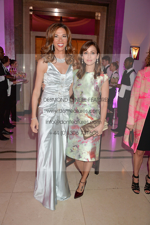 Left to right, HEATHER KERZNER and NATALIE IMBRUGLIA at the QBF Spring Gala in aid of the Red Cross War Memorial Children's Hospital hosted by Heather Kerzner and Jeanette Calliva at Claridge's, Brook Street, London on 12th May 2015.
