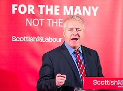 Labour Party Chair Ian Lavery MP gives speech at the Shottstown Miners Welfare Hall, Penicuik, Midlothian at the start of a tour of Scotland.