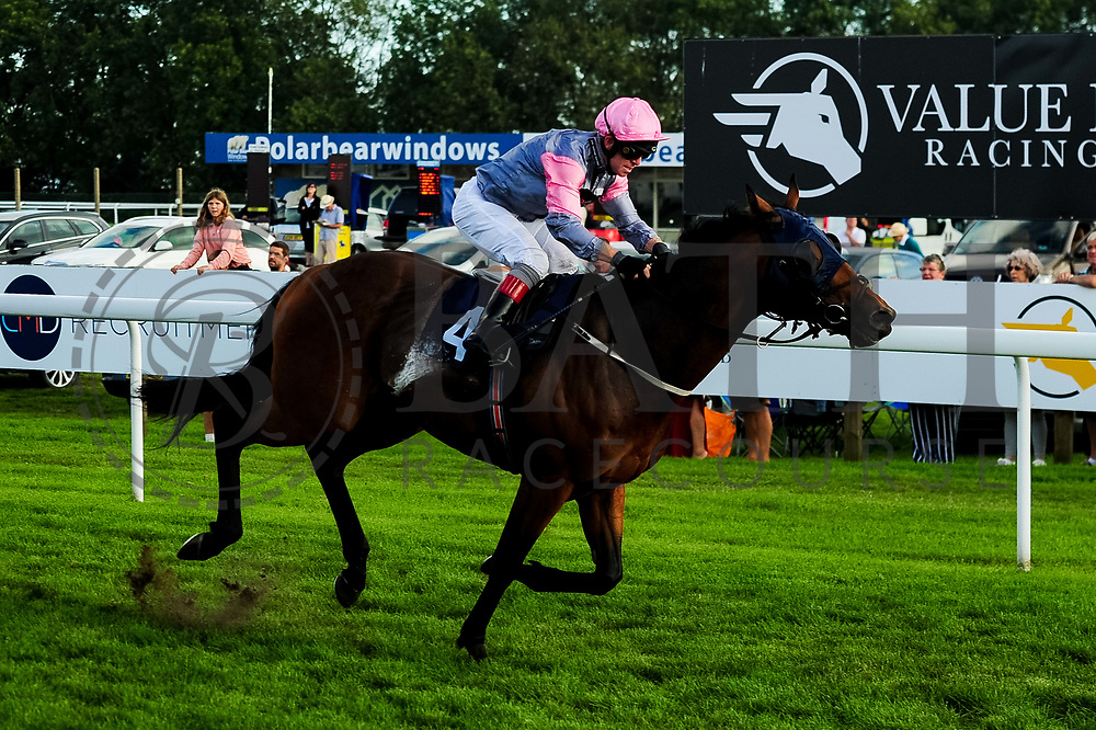 About Glory ridden by Franny Norton and trained by Iain Jardine in the Freshers Handicap race.  - Ryan Hiscott/JMP - 15/09/2019 - PR - Bath Racecourse - Bath, England - Race Meeting at Bath Racecourse