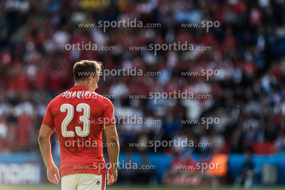 15.06.2016, Parc de Princes, Paris, FRA, UEFA Euro, Frankreich, Rumaenien vs Schweiz, Gruppe A, im Bild Xherdan Shaqiri (SUI) // Xherdan Shaqiri (SUI) during Group A match between Romania and Switzerland of the UEFA EURO 2016 France at the Parc de Princes in Paris, France on 2016/06/15. EXPA Pictures © 2016, PhotoCredit: EXPA/ JFK