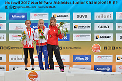 04/08/2017; Podium at 2017 World Para Athletics Junior Championships, Nottwil, Switzerland
