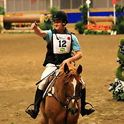 Waylon Roberts and Chocco De Pomme at the Good Crop Services Indoor Eventing during the 2009 Royal Agricultural Winter Fair, Toronto, ON