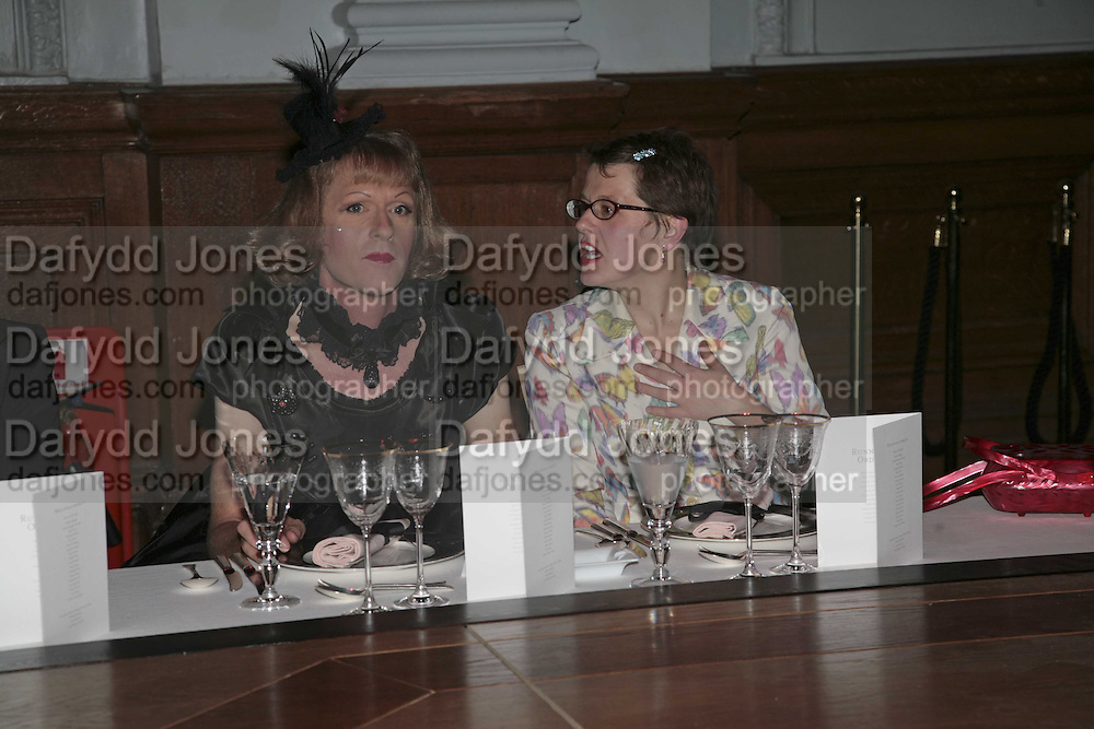 GRAYSON PERRY AND WENDY JONES, 6th Annual Lanc»me Colour Designs Awards In association with CLIC Sargent Cancer Care.  Lindley Hall, Vincent Sq. London. 28 November 2006.  ONE TIME USE ONLY - DO NOT ARCHIVE  © Copyright Photograph by Dafydd Jones 248 Clapham Rd. London SW9 0PZ Tel 020 7733 0108 www.dafjones.com
