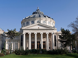 The Romanian Athenaeum (Atheneul Roman) in Bucharest Romania