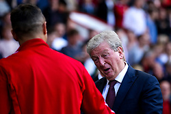 Crystal Palace manager Roy Hodgson speaks with Phil Jagielka of Sheffield United - Mandatory by-line: Robbie Stephenson/JMP - 18/08/2019 - FOOTBALL - Bramall Lane - Sheffield, England - Sheffield United v Crystal Palace - Premier League