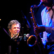 November 3, 2012 - New York, NY : From left, Chick Corea (piano) and Ravi Coltrane (sax) perform at the Blue Note jazz club on Saturday night.  CREDIT: Karsten Moran for The New York Times