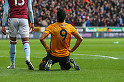 Raul Jimenez of Wolverhampton Wanderers during the Premier League match between Wolverhampton Wanderers and Aston Villa at Molineux, Wolverhampton, England on 10 November 2019.