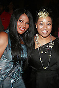 "l to r: Sandra ""Pep"" Denton and Demetria Lucas at the Celebration for the Finale episode of the VH1 hit reality show ' Let's talk about Pep held at the Comix Club on March 1, 2010 in New York City."