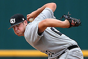 Campbell pitcher Ryan Thompson (27)<br /> delivers a pitch during an NCAA college baseball tournament regional game against the Old Dominion in Columbia, S.C., Saturday, May 31, 2014. Campbell beat Old Dominion 4-1 in 12 innings. (AP Photo/Stephen B. Morton)