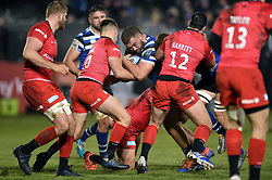 Will Stuart of Bath Rugby takes on the Saracens defence - Mandatory byline: Patrick Khachfe/JMP - 07966 386802 - 29/11/2019 - RUGBY UNION - The Recreation Ground - Bath, England - Bath Rugby v Saracens - Gallagher Premiership