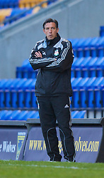 WARRINGTON, ENGLAND - Wednesday, April 29, 2009: Liverpool's reserve team manager Gary Ablett against Newcastle United during the FA Premiership Reserves League (Northern Division) match at the Halliwell Jones Stadium. (Photo by David Rawcliffe/Propaganda)