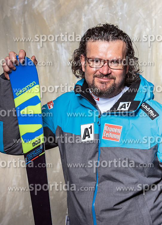 08.10.2016, Olympia Eisstadion, Innsbruck, AUT, OeSV Einkleidung Winterkollektion, Portraits 2016, im Bild Roland Aigner, Ski Alpin Herren // during the Outfitting of the Ski Austria Winter Collection and official Portrait Photoshooting at the Olympia Eisstadion in Innsbruck, Austria on 2016/10/08. EXPA Pictures © 2016, PhotoCredit: EXPA/ JFK