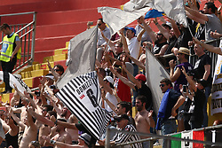 April 29, 2018 - Benevento, Campania, Italy - Supporters Udinese Calcio during the Italian Serie A football match Benevento Calcio and Udinese Calcio at Ciro Vigorito Stadium in Benevento on April 29, 2018  (Credit Image: © Paolo Manzo/NurPhoto via ZUMA Press)