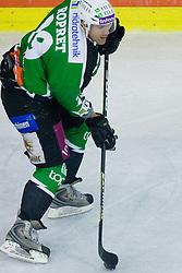 Anze Ropret (HDD Tilia Olimpija, #29) during ice-hockey match between HD Tilia Olimpija and HK Acroni Jesenice  in 8th Round of EBEL league, on October 3, 2010 at Hala Tivoli, Ljubljana, Slovenia. (Photo By Matic Klansek Velej / Sportida.com)