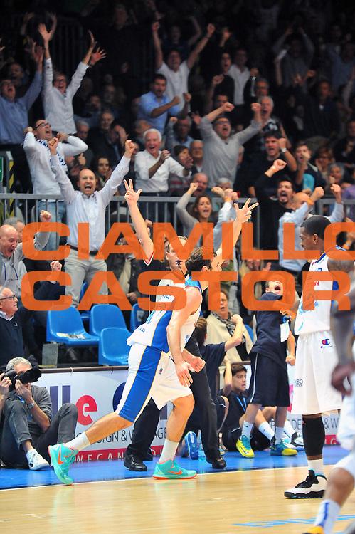 DESCRIZIONE : Cantu&rsquo; Lega A 2014-2015 Acqua Vitasnella Cantu&rsquo; Banco di Sardegna Sassari<br /> GIOCATORE : Stefano Gentile<br /> CATEGORIA : esultanza<br /> SQUADRA : Acqua Vitasnella Cantu'<br /> EVENTO : Campionato Lega A 2014-2015<br /> GARA : Acqua Vitasnella Cantu&rsquo; Banco di Sardegna Sassari<br /> DATA : 09/11/2014<br /> SPORT : Pallacanestro<br /> AUTORE : Agenzia Ciamillo-Castoria/S.Ceretti<br /> GALLERIA : Lega Basket A 2014-2015<br /> FOTONOTIZIA : Cantu&rsquo; Lega A 2014-2015 Acqua Vitasnella Cantu&rsquo; Banco di Sardegna Sassari<br /> PREDEFINITA :