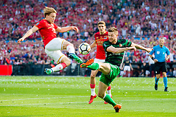 Jonas Svensson of AZ, Jan-Arie van der Heijden of Feyenoord during the Dutch Toto KNVB Cup Final match between AZ Alkmaar and Feyenoord on April 22, 2018 at the Kuip stadium in Rotterdam, The Netherlands.