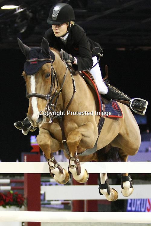 Equitation : Gucci Masters - 03.12.2010 - Prix Le Figaro CSI5 - Malin Baryard Johnsson (GER/sur HM Reveur de Hurtebise) *** Local Caption *** 00042820