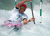 Jure Meglic (SLO), Mens K1 Class, Lee Valley White Water Centre, Waltham Abbey, England, Photo by: Peter Llewellyn