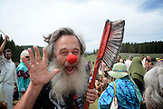 Vermin Supreme, political candidate and activist.  Rainbow Gatherings started back in 1972, acts of self-expression, inclusiveness, and the right to peacefully assemble. Rainbow Gathering 2013 was held in Montana, outside of Jackson.