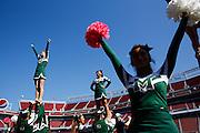 Manteca cheerleaders get the crowd excited before kickoff against Oakdale during Friday Night Lights at Levi's Stadium in Santa Clara, California, on October 11, 2014. (Stan Olszewski/ Special to The Record)