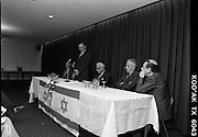 New Israeli Ambassador Meets Jewish Community.(T6)..1989..18.09.1989..09.18.1989..18th September 1989..The newly appointed Israeli Ambassador to Ireland,.Mr Yoav Biran, met with the Jewish Community in Ireland at the Israeli Embassy at Ballsbridge Dublin...Image shows Ambassador Biran taking the floor to speak the assembled audience of members of the Jewish Community of Ireland in the embassy.