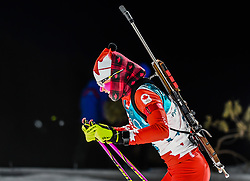 February 12, 2018 - Pyeongchang, Gangwon, South Korea - Emma Lunder of Canada competing at Women's 10km Pursuit, Biathlon, at olympics at Alpensia biathlon stadium, Pyeongchang, South Korea. on February 12, 2018. Ulrik Pedersen/Nurphoto  (Credit Image: © Ulrik Pedersen/NurPhoto via ZUMA Press)